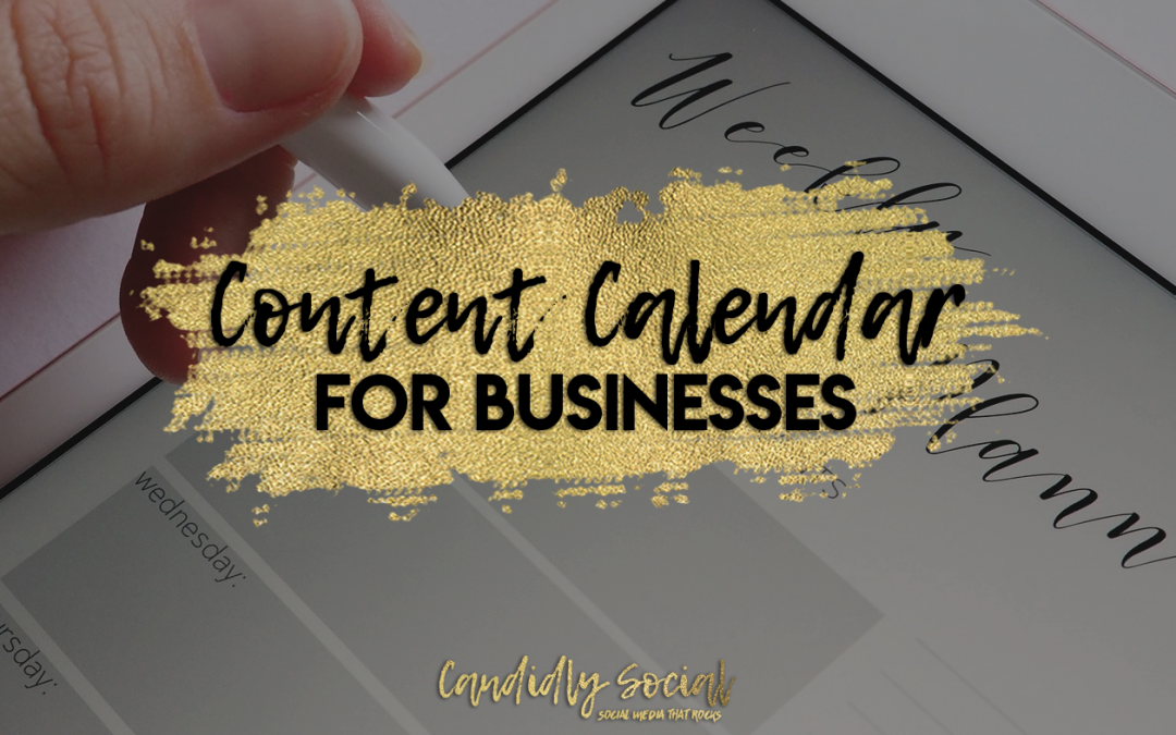 30 Day Content Calendar for Businesses