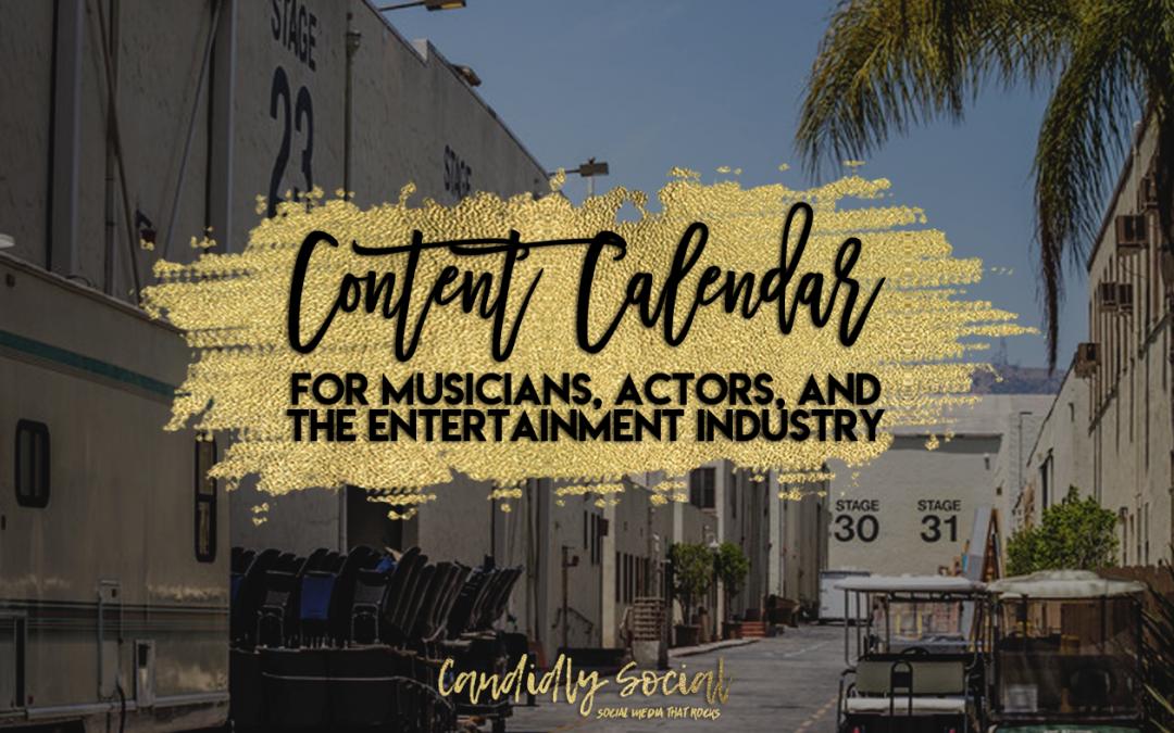 30 Day Content Calendar for Entertainment