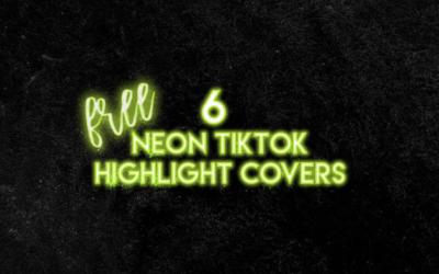 6 Neon TikTok Highlight Covers